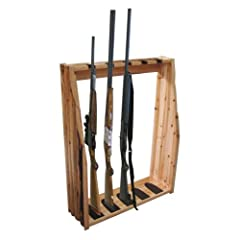 Rush Creek 5 Gun Wall Rack, Wooden, Large by Rush Creek