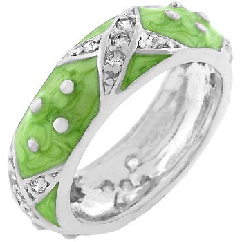 Light Green Boogie Down Enamel Ring (size: 08)