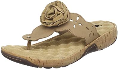 Softwalk Women's Boca Raton Thong Sandal,Sand Nubuck,12 N US