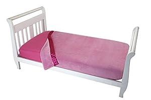 Everything for Kids Toddler Coral Fleece Blanket, Pink