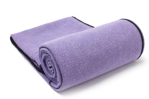 Imagen de YogaRat púrpura-negro 100% microfibra Toallas Yoga Mat: Toallas (24
