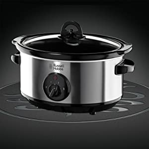 Russell Hobbs 19790 Slow Cooker, 3.5 L - Stainless Steel
