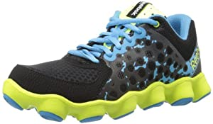 Reebok Footwear Womens ATV19 Running Shoe,Black/Rivet Grey/Blue Blink/Neon Yellow,7.5 M US
