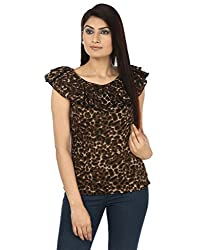 Coash Animal print designer neck women top