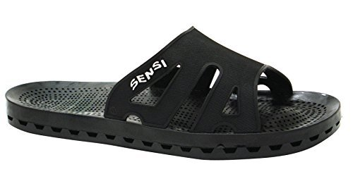 a3173d66e859a Sensi Shower Spa Pool Beach Sandal Waterproof Regatta Basic Spa Sandals  Solid Black (Us Size