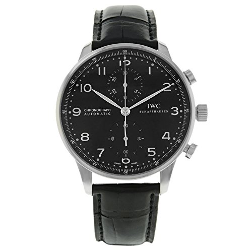 IWC Portuguese Chronograph Automatic Black Dial Men's Watch #IW371447