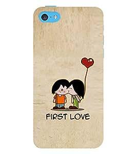 EPICCASE cute love Mobile Back Case Cover For Apple iPhone 5c (Designer Case)