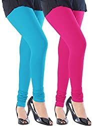 Ace Women Leggings(combo of 2 pink Rani and blue)