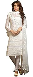Aarti Lifestyle Women's Georgette Salwar Suit Dress Material (1472_SOS-141 _White)