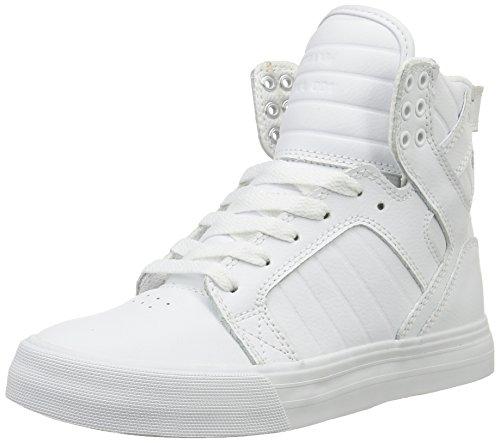 Supra - Skytop, Sneakers unisex, Bianco (Weiß (WHITE - WHITE   WHT)), 42