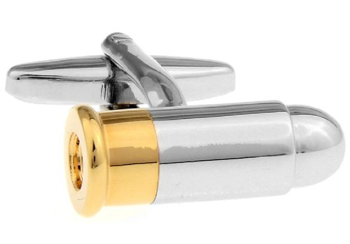 LBFEEL Army Cufflinks for Mens Jewelry the Bullet Design in 2 Styles