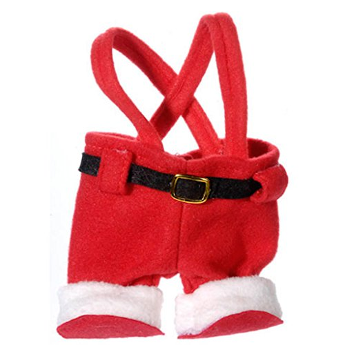 4 Santa Clause Pants Ornaments Tree Wreath Gift Favor Bag Box 7