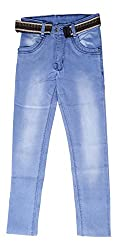 fourgee Boys Jeans with Belt (j1, Blue, 8 - 9 Years)