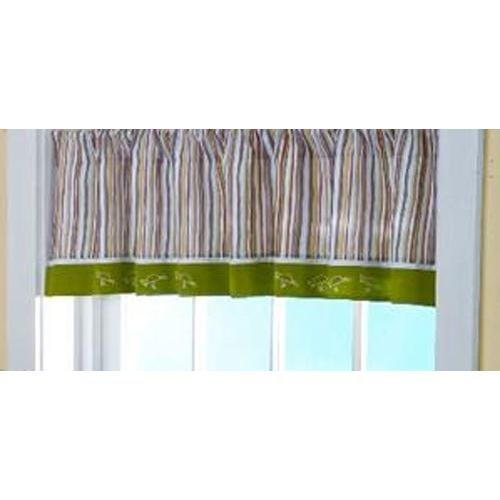 Southern Living Zootopia Valance, Green/White (Discontinued by Manufacturer)