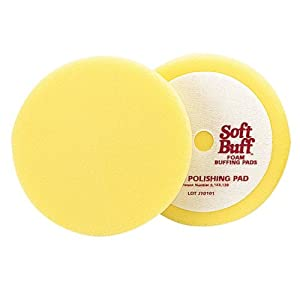 "Meguiar's W8006 Mirror Glaze Professional Soft Buff 6.5"" Foam Polishing Pad"