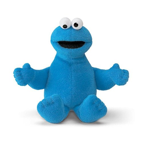 "Enesco Sesame Street 6"" Cookie Monster Beanbag Gund Plush - 1"
