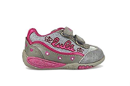 LULU' sneakers bambina tessuto / camoscio (20 EU, Grigio / Fucsia)