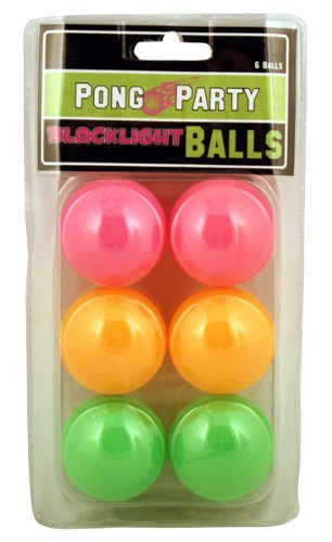 Find Cheap Island Dogs Black Light Pong Balls, 6-Pack