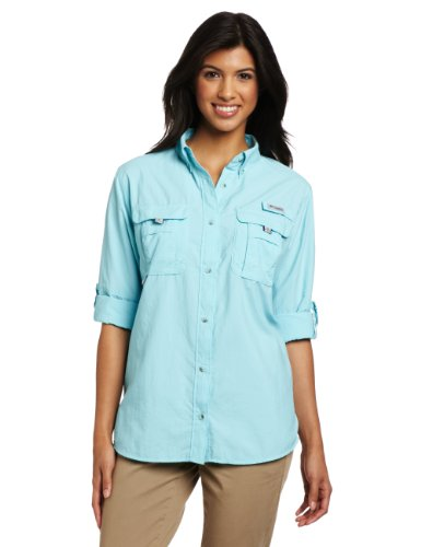 Columbia Women's Bahama Long Sleeve Shirt, Medium, Clear Blue (Woman Fishing compare prices)