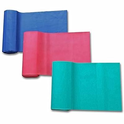 Fitnessbänder / Trainingsbänder,Ideal für Krafttraining, Yoga und Pilates, Verschiedene Widerstände im Set. 100 % Naturlatex, Lebenslange Garantie,Size:150cm x 15cm
