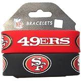 NFL San Francisco 49ers Silicone Rubber Bracelet Set, 2-Pack