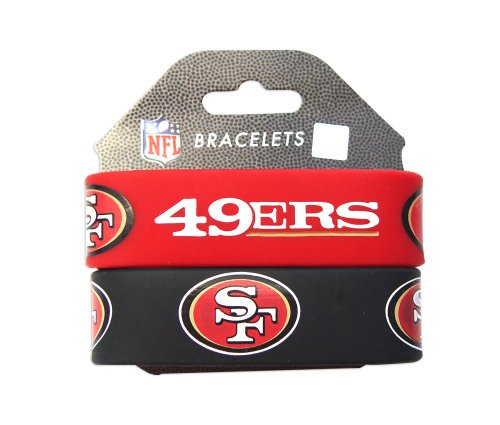 NFL San Francisco 49ers Silicone Rubber Bracelet