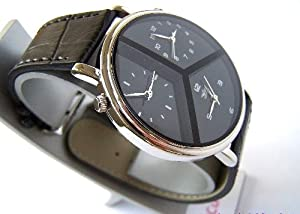 Mens Multi Time Zone DESIGNER WATCH Black Mercedes from S-TECH