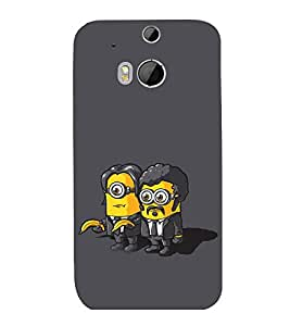 printtech Minions Pulp Fiction Back Case Cover for HTC One M9::HTC M9::HTC One Hima
