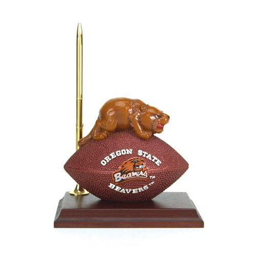 Oregon State Beavers Mascot Football Clock/Pen