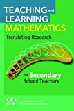 img - for Teaching and Learning Mathematics: Translating Research for Secondary School Teachers book / textbook / text book