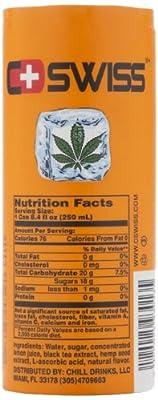 CSWISS Cannabis Ice Tea, Hanf Eistee ,Erfrischungsgetränk, Eis Tee, Hemp, Dose, 12 Dosen, 12 x 250 ml von Seagull Trading GmbH auf Gewürze Shop