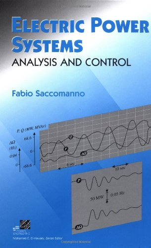 Electric Power Systems: Analysis And Control