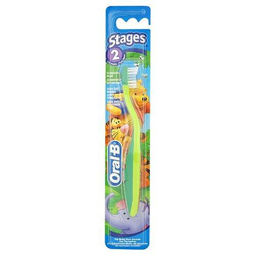 Braun Oral-B Stages Toothbrush - Stage 2 Winnie the Pooh - 2-4yrs 96170 Colour May Vary