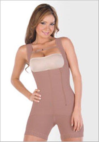 Shapewear for Women Thermal Underwear Capri Bodysuit Faja Colombiana Black