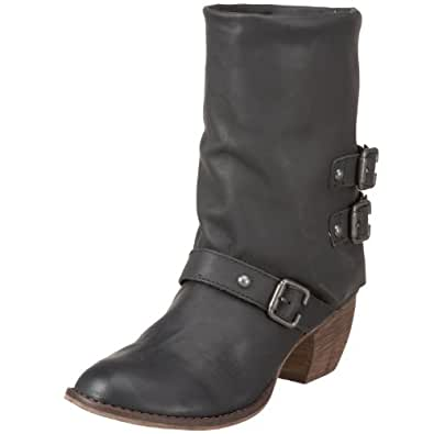 MIA Limited Edition Women's Buckaroo Western Boot,Black Leather,5 M US