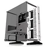 Thermaltake Core P3 ATX Tempered Glass Gaming Computer Case Chassis, Open Frame Panoramic Viewing, Glass Wall-Mount, Riser Cable Included, Snow Edition, CA-1G4-00M6WN-05 (Color: Snow)