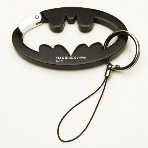 カラビナホルダー 【携帯ストラップ・キーリング】 ブラック BATMAN バットマン 【ORBM】