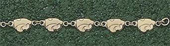 Kansas State Wildcats 1 4 Powercat 7.25 Bracelet - 14KT Gold Jewelry by Logo Art