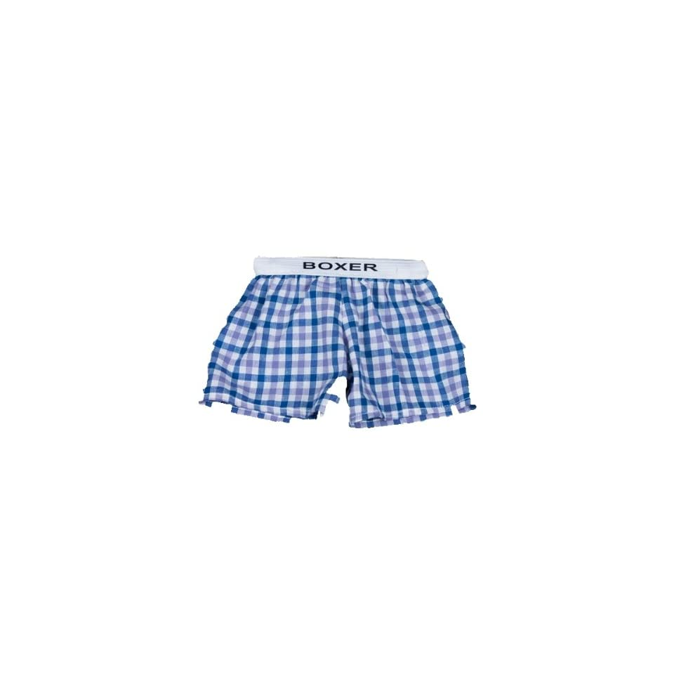 Blue Plaid Boxer Teddy Bear Clothes Fits Most 14   18 Build a bear, Vermont Teddy Bears, and Make Your Own Stuffed Animals