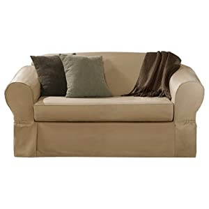 Maytex Piped Twill 2-Piece Slipcover Sofa
