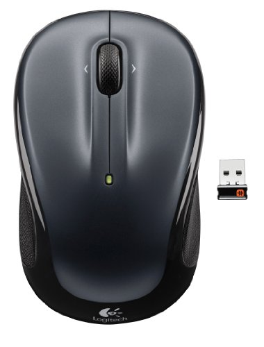 Logitech Wireless Mouse M325 with Designed-For-Web Scrolling - Dark Silver (910-002136)