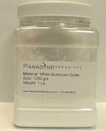 Aluminum Oxide Powder White 1200 Grit- 1 Lbs in sturdy plastic Jar