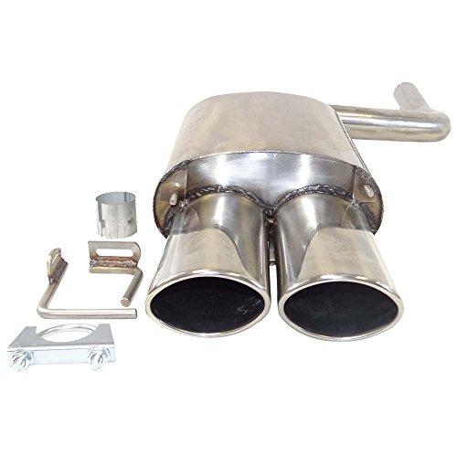 Supersport-Edelstahl-Endschalldmpfer-passend-fr-MERCEDES-BENZ-C-Klasse-I-Limo-Typen-W202-C180-C200-C200-Kompressor-C220-C230-C230-Kompressor-C240-C200D-C200CDI-C220-220CDI-C250-C250-TurboD-Otto-89-90-
