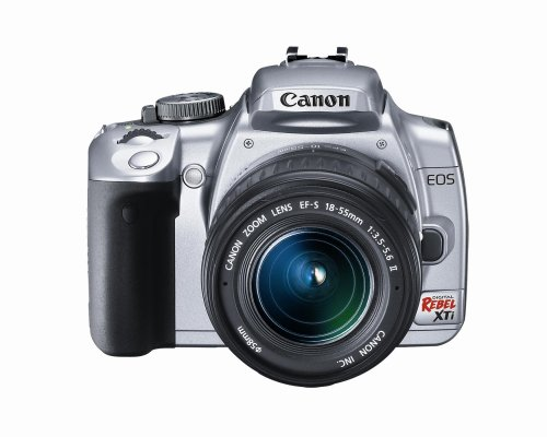 Canon Digital Rebel XTi 10.1MP Digital SLR Camera with EF-S 18-55mm f/3.5-5.6 Lens (Silver)