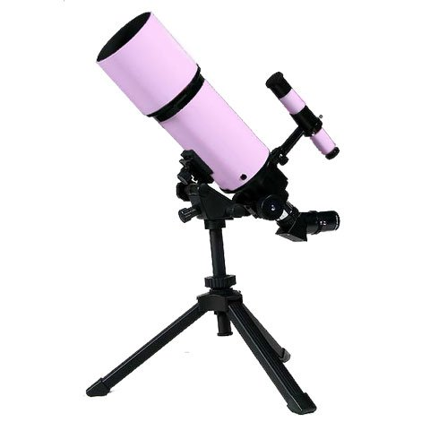 Pink Twinstar Astromark 80Mm 16-40X Power Portable Refractor Telescope