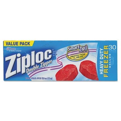 Ziploc Freezer Bags Value Pack, Gallon Size, 30 Ct