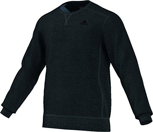adidas-sweat-shirt-pour-homme-essentials-3s-light-crew-xxxl-noir-black-melange-black