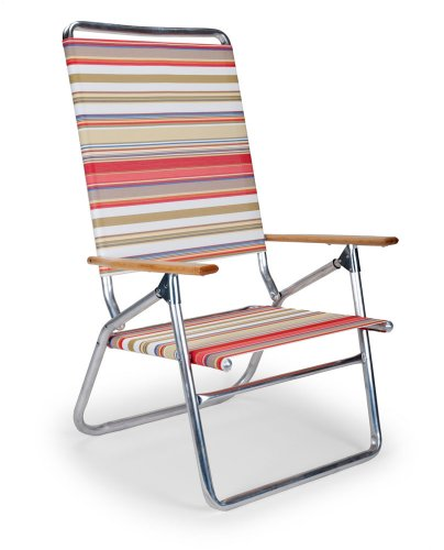 Telescope Casual Light and Easy High Boy Folding Beach Arm Chair, Fiesta