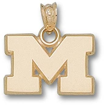 Marshall Thundering Herd M 1 2 Pendant - 14KT Gold Jewelry by Logo Art