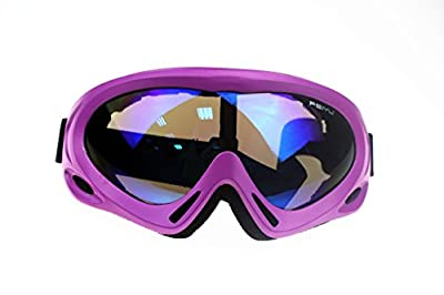 MIGAGA UV Protection Ski Goggles Adjustable Portable Motorcycle Bicycle Goggles Dustproof Scratch-Resistant CS Army Tactical Military Goggles Windproof Snowmobile Eyewear Outdoor Riding Glasses